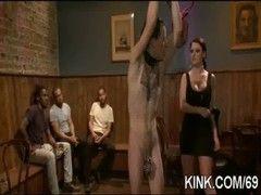 Fesselsex Sklave bekommt seine Bestrafung